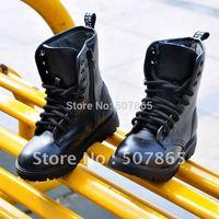 Bakham 2014 autumn clothing male child plus velvet high martin boots leather x1074