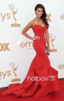 Платье знаменитостей Kim Cardasham Celebrity dress Christmas day dress Evening Party dress Sheath Red Knee-Length Custome