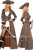 Deluxe Sexy Pirate Captain Costume 8628 ,Sexy Costumes, Halloween costume