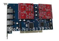 NEW 4 Port Asterisk FXO PCI Card  TDM410P Support Asterisk Trixbox Elastix