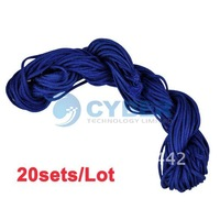 Holiday Sale Free Shipping 20sets/Lot Deep Blue Nylon Cord Thread Jade Rope Rattail DIY For Braided Bracelet 7375