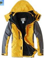 outdoor Jacket mens two piece set outdoor jacket . 2 in 1 waterproof ,windproof  .5Color