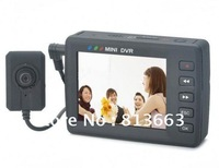 """Mini DVR 2.5"""" LCD Digital Video Recorder with TF Card Slot and Remote Control - Black"""