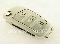 In stock Silicone Protective Cover Hold Bag Protect Audi Smart Remote Entry Key Case Fob(China (Mainland))