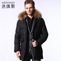 Hoyanp medium-long male hooded down coat male down coat winter male