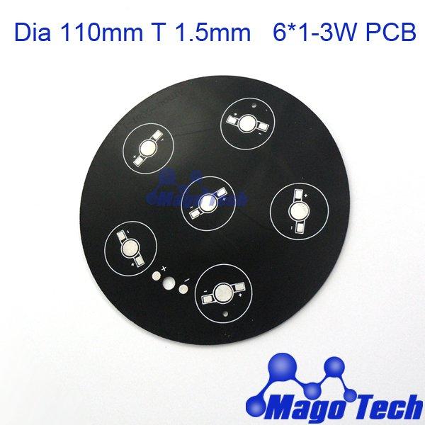 DHL/FEDEX/EMS Free shipping- Dia 110mm T 1.5mm 12-18W aluminum circular plate BASE LED high power board PCB(China (Mainland))
