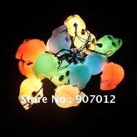 New arrival !!16 PCS Skelton Skull Head Horror Halloween Light Lamp Colorful New free shipping for halloween