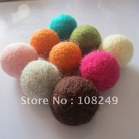 Free shipping 30MM jewelry wool felt balls!Fashion mixed colors jewelry woven felt decoration ball beads!200 pieces/lot!
