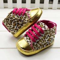 Leopard style Baby prewalker First Walkers Gym   Shoes cack Pre Walk Toddler Infant's Footwear bow