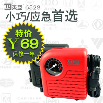 Free shipping Tianya 6528 trainborn car air pump vaporised pump car mini small warranty 1