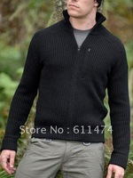 Free Shipping TAD Special Service Sweater Men's knitting Sweater Black Sand Color
