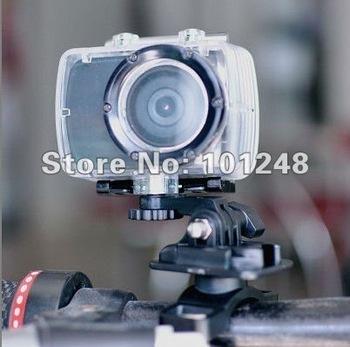 New head sports /action /helmet / bike / car dvr camera  HD1080P 30fps ambrella chip mov format avp034L free waterproof case