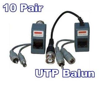 10Pair/lot UTP Balun CCTV Balun UPT twisted pair Video Audio Power  FREE SHIPPING CHINA POST
