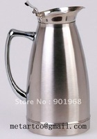 1.5L 12-24hours keep warm stainless steel double walls Vacuum coffee pot ice pot ice flask-12pcs/lot