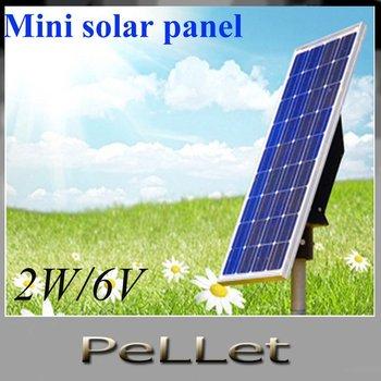 Mini solar module,mini solar panel solar kit 2W/6V    50pcs