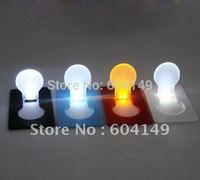 Mini Light Wallet LED Card Light Pocket Lamp 50 pcs/lot Mix Colors Free Shipping by HK post