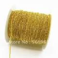 Free Shipping!!! 12m Gold Plated 2mm Chain For Necklaces & Pendants Chains for Necklaces Jewelry Link Accessories HB070
