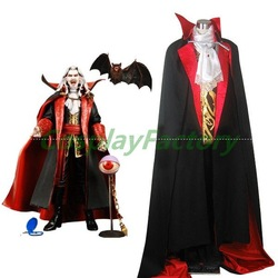 Free Shipping Custom Made Castlevania Vampire Dracula Halloween Cosplay Costume,2.5kg/pc(China (Mainland))