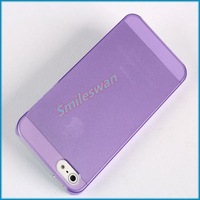 Free Shipping soft transparent case 0.5mm ultra thin crystal case for iphone 5 5G--Cheapest