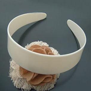 38mm plastic wide headband white hair accessory cheap 10pcs per pack wholesale free shipping