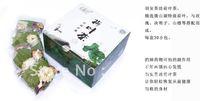 Free shipping high quality goods rose lotus leaf tea contain lotus leaf, hawthorn, semen cassiae,rose, 30bags/box
