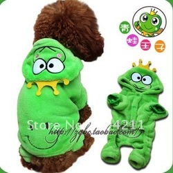 NEW! Pet dog cat cotton Frog four feet clothes, coat, dress, wear, T-shirt, free shipping+free gifts(China (Mainland))