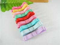 Free shipping 100pcs/lot,Double hair bow hair clips, Girl' hairpin, baby's Barrettes,kid's headwear