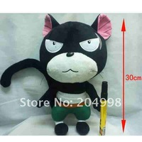 "Free shipping Anime Fairy Tail 12"" Lily  Cat Cosplay Soft  Plush Stuffed Toy Doll"