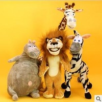 25cm 6pcs Madagascar 5 action figures stuffed plush toy for Christmas gifts