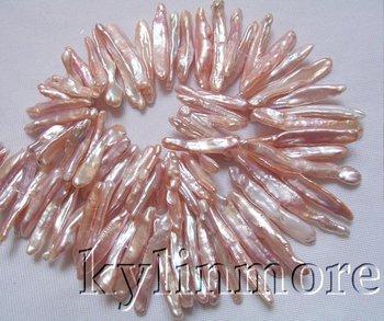 8PE02124 5x28mm-6x42mm Pink Reborn Keshi Biwa Pearl