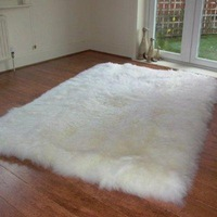 Fashion macrotrichia white wool carpet piaochuang blanket table mats TP