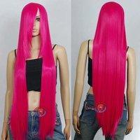 40 inch Hi_Temp Series Hot Rose Pink Long Cosplay DNA Wigs