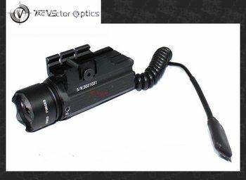 TAC Vector Optics Pistol 20-30mW Green Laser Sight Visible Beam Scope w/ Cree P4 LED Flashlight Adapter