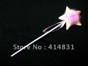Halloween party clothes pinkish purple magic wand fairy stick(China (Mainland))