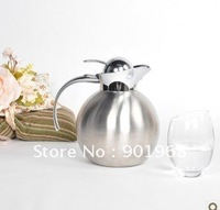 Home hotel Ball style double wall vacuum keep wall stainless steel 1.25L vacuum flask coffee pot ice pot