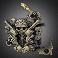 New Skull Empaistic Pro Tattoo Machine Gun 10-Wrap Coils for Liner / Shader Set