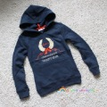 Female big boy sweatshirt spring and autumn fleece pullover with a hood outerwear 128 - 174