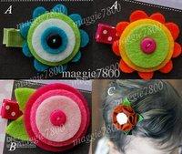 """Wholesale - 2"""" Baby felt hair bows hair clip Girls' Hair Accessories Baby hair clips felt ribbon bows A384"""