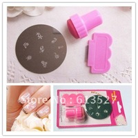 Free Shipping -  DIY Nail Art Stamping Set Stamping  Stamps + Scrapers+Image Plate