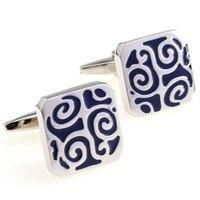 designer cufflinks paint series male blue black vintage decorative pattern cufflinks nail sleeve 155924 cuff links