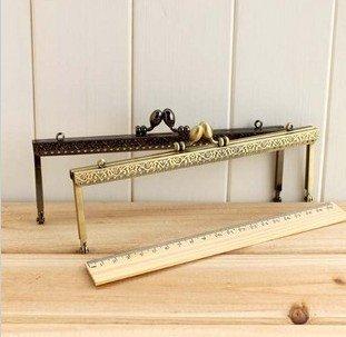 Track Ship + 10pcs/lot DIY Purse 20cm Square Bronze/Brown Color Metal Purse Frame Handle for Bag Sewing Craft Tailor Sewer