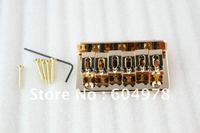 Set Of Gold Electric Guitar Fixed String Thru - Body Bridge broad-brimmed