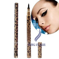 Waterproof Liquid Eyeliner Pen Black Eye Liner Pencil Makeup Leopard Women 6025