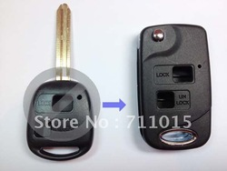 Hot-selling Toyota 2 button remote key shell with Toy43 blade key blank only with best price(China (Mainland))