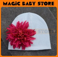 retail  hat with big flower and Cap Beanie Baby Cotton Hat Flower Hat Baby/Kids Hat 1size 05