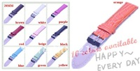 Best price----Wholesale Lots 40pcs 20mm  leather imitation Bamboo grain Watch Bands colourful 10 colour available
