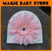 retail  hat with big pink flower Hat Flower Hat Baby/Kids Hat 1size