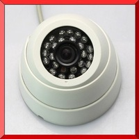 "2014 New High Quality Home White 1/3"" 420TVL CMOS CCTV 24 IR Indoor Night Vision Security Color Camera, Free shipping"