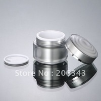 50G silver  acrylic  cream bottle with flower shape lid ,cosmetic container,,cream jar,Cosmetic Jar,Cosmetic Packaging