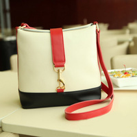 2013 School Bag Candy Color Block Bucket Bag Women's Handbag YWJR1081